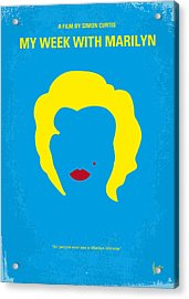 No284 My Week With Marilyn Minimal Movie Poster Acrylic Print by Chungkong Art