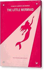 No314 My Mermaid Minimal Movie Poster Acrylic Print by Chungkong Art