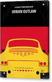 No316 My Urban Outlaw Minimal Movie Poster Acrylic Print by Chungkong Art