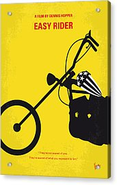 No333 My Easy Rider Minimal Movie Poster Acrylic Print by Chungkong Art