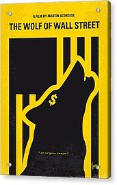 No338 My Wolf Of Wallstreet Minimal Movie Poster Acrylic Print by Chungkong Art