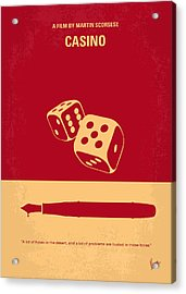 No348 My Casino Minimal Movie Poster Acrylic Print by Chungkong Art