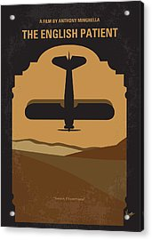 No361 My The English Patient Minimal Movie Poster Acrylic Print by Chungkong Art