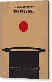 No381 My The Prestige Minimal Movie Poster Acrylic Print by Chungkong Art