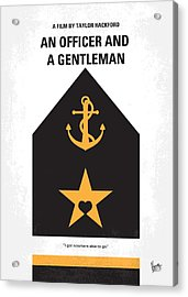 No388 My An Officer And A Gentleman Minimal Movie Poster Acrylic Print by Chungkong Art