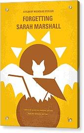 No393 My Forgetting Sarah Marshall Minimal Movie Poster Acrylic Print by Chungkong Art