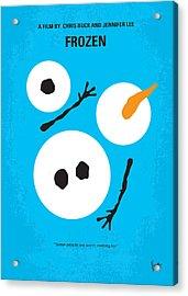 No396 My Frozen Minimal Movie Poster Acrylic Print by Chungkong Art