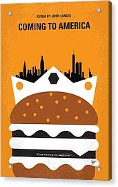 No402 My Coming To America Minimal Movie Poster Acrylic Print by Chungkong Art
