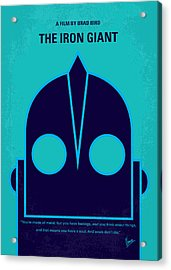 No406 My The Iron Giant Minimal Movie Poster Acrylic Print by Chungkong Art