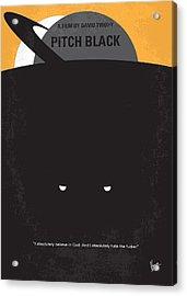 No409 My Pitch Black Minimal Movie Poster Acrylic Print by Chungkong Art