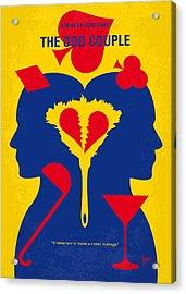 No421 My The Odd Couple Minimal Movie Poster Acrylic Print by Chungkong Art