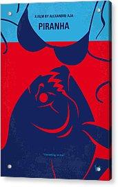 No433 My Piranha Minimal Movie Poster Acrylic Print by Chungkong Art