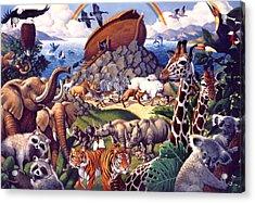 Noah's Ark Acrylic Print by Mia Tavonatti