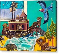 Noah's Ark Second Voyage Acrylic Print by Susan Culver
