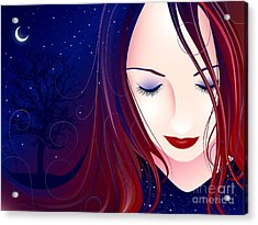 Nocturn II Acrylic Print by Sandra Hoefer