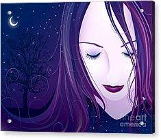 Nocturn Acrylic Print by Sandra Hoefer