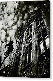 Noir Moment In Brugges Acrylic Print by Connie Handscomb
