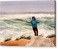 Nor 'easter Acrylic Print by Karol Wyckoff