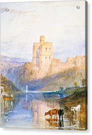 Norham Castle An Illustration To Marmion By Sir Walter Scott Acrylic Print by Joseph Mallord William Turner