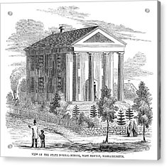 Normal School, 1853 Acrylic Print by Granger