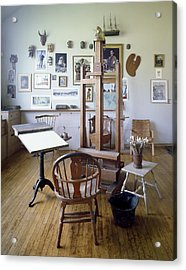 Norman Rockwell Studio Acrylic Print by Carol Highsmith