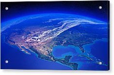 North America Seen From Space Acrylic Print by Johan Swanepoel