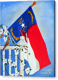 North Carolina - A State Of Art Acrylic Print by Shelia Kempf