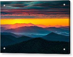 North Carolina Blue Ridge Parkway Morning Majesty Acrylic Print by Dave Allen
