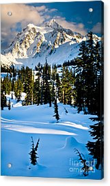 North Cascades Winter Acrylic Print by Inge Johnsson