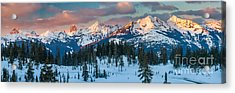 North Cascades Winter Panorama Acrylic Print by Inge Johnsson
