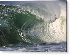 North Shore Powerful Wave Acrylic Print by Vince Cavataio