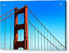 North Tower Golden Gate Acrylic Print by Garry Gay