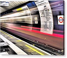 Northbound Underground Acrylic Print by Rona Black