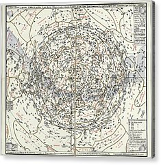 Northern Hemisphere Star Chart Acrylic Print by Library Of Congress, Geography And Map Division