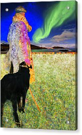 Northern Lights Acrylic Print by Chuck Staley
