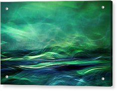 Northern Lights Acrylic Print by Willy Marthinussen