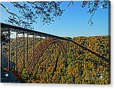 Northwest View Of Gorge Bridge Acrylic Print by Timothy Connard