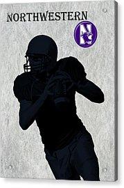 Northwestern Football Acrylic Print by David Dehner