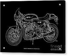 Norton Commando 961 Cafe Racer - 2011 Acrylic Print by Pablo Franchi