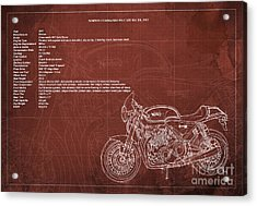 Norton Commando 961 Cafe Racer 2011 Technical Specifications Acrylic Print by Pablo Franchi