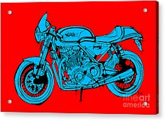 Norton Commando Blue And Red Acrylic Print by Pablo Franchi