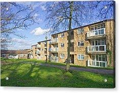 Norwich Apartments Acrylic Print by Tom Gowanlock