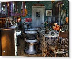 Nostalgia Barber Shop Acrylic Print by Bob Christopher