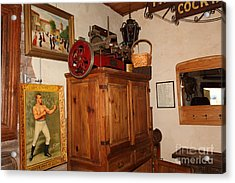 Nostalgic Corner In The Cellar Room At The Swiss Hotel In Sonoma California 5d24442 Acrylic Print by Wingsdomain Art and Photography