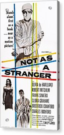 Not As A Stranger, Us Poster, From Top Acrylic Print by Everett