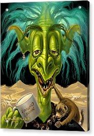 Not Enough Coffee Troll Acrylic Print by Jeff Haynie