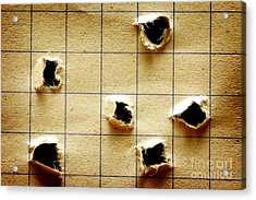Notebook With Holes Acrylic Print by Michal Bednarek