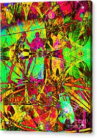 Nothing But Net The Tip Off 20150310 Acrylic Print by Wingsdomain Art and Photography