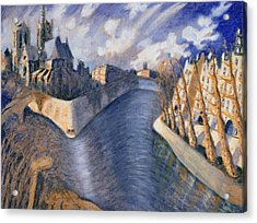 Notre Dame Cathedral Acrylic Print by Charlotte Johnson Wahl