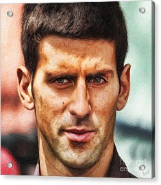 Novak Djokovic Acrylic Print by Nishanth Gopinathan